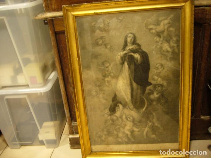 ANTIGUA LÁMINA DE LA VIRGEN INMACULADA (Arte - Arte Religioso - Pintura Religiosa - Otros)