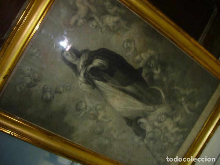 Arte: Antigua lámina de la Virgen Inmaculada - Foto 2 - 87655056
