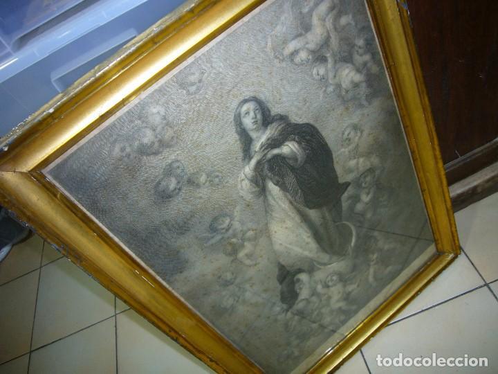 Arte: Antigua lámina de la Virgen Inmaculada - Foto 3 - 87655056