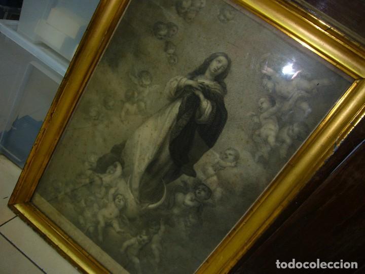 Arte: Antigua lámina de la Virgen Inmaculada - Foto 4 - 87655056