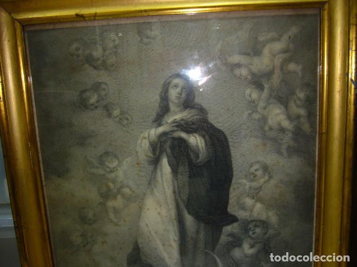 Arte: Antigua lámina de la Virgen Inmaculada - Foto 5 - 87655056