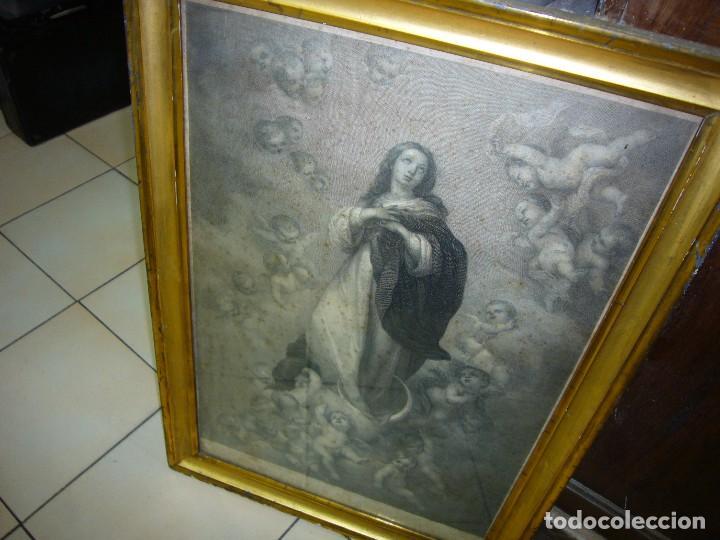 Arte: Antigua lámina de la Virgen Inmaculada - Foto 10 - 87655056