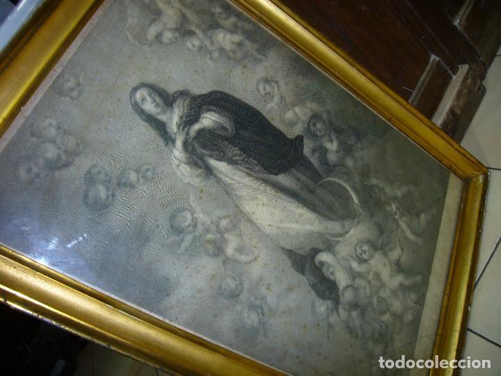 Arte: Antigua lámina de la Virgen Inmaculada - Foto 12 - 87655056