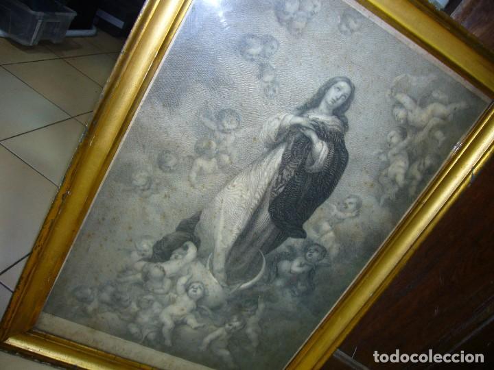 Arte: Antigua lámina de la Virgen Inmaculada - Foto 13 - 87655056