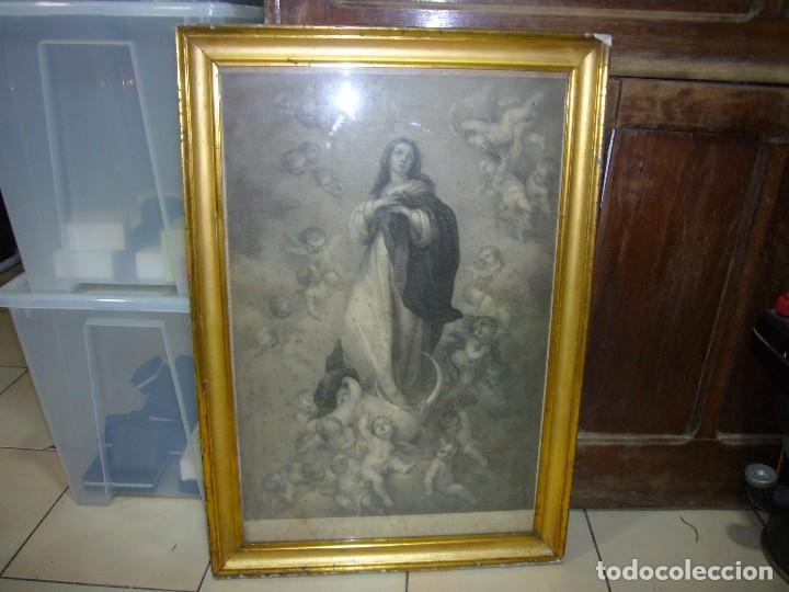 Arte: Antigua lámina de la Virgen Inmaculada - Foto 15 - 87655056