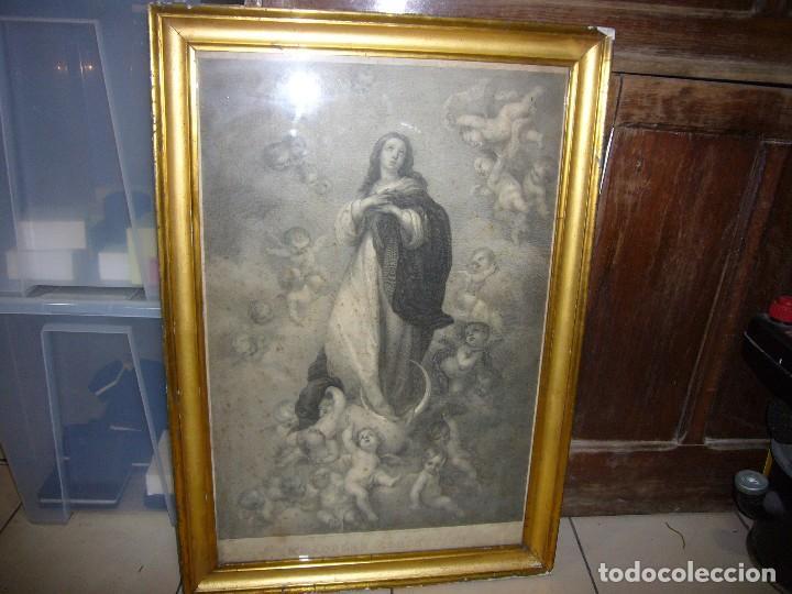 Arte: Antigua lámina de la Virgen Inmaculada - Foto 16 - 87655056