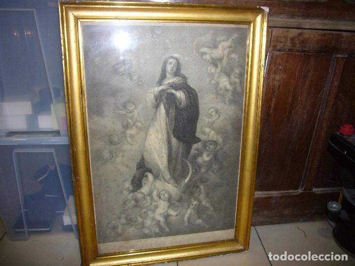 Arte: Antigua lámina de la Virgen Inmaculada - Foto 17 - 87655056