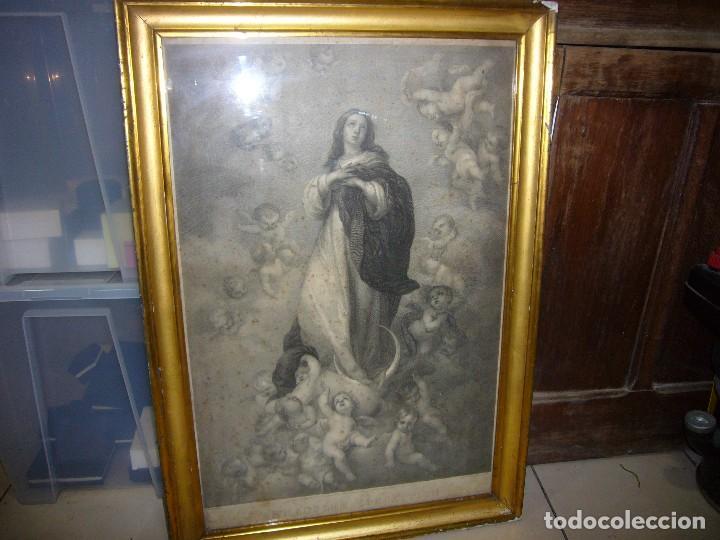 Arte: Antigua lámina de la Virgen Inmaculada - Foto 19 - 87655056