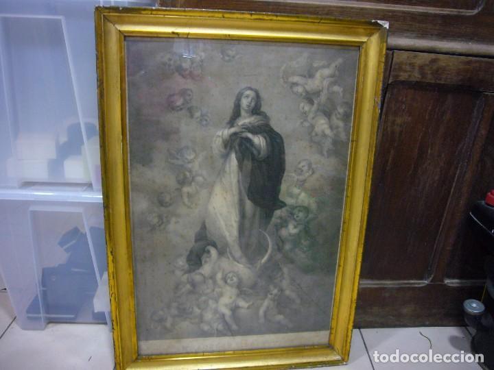 Arte: Antigua lámina de la Virgen Inmaculada - Foto 20 - 87655056