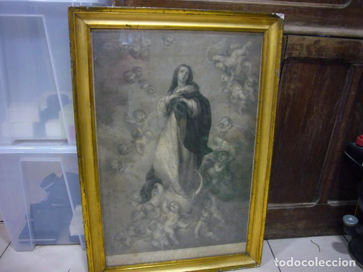 Arte: Antigua lámina de la Virgen Inmaculada - Foto 21 - 87655056