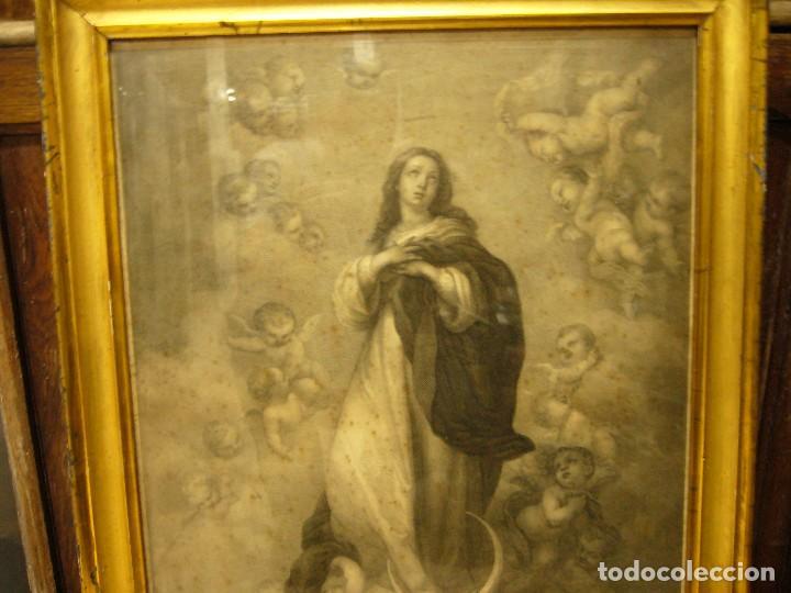 Arte: Antigua lámina de la Virgen Inmaculada - Foto 22 - 87655056
