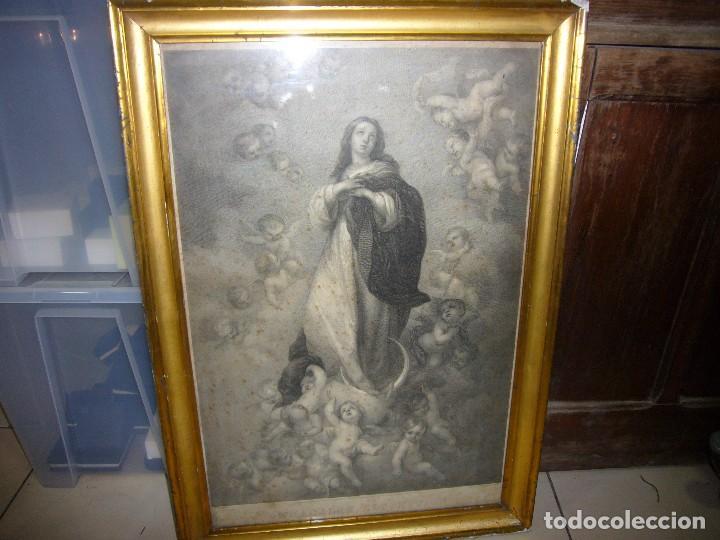 Arte: Antigua lámina de la Virgen Inmaculada - Foto 24 - 87655056