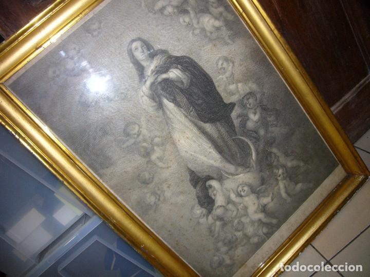 Arte: Antigua lámina de la Virgen Inmaculada - Foto 25 - 87655056