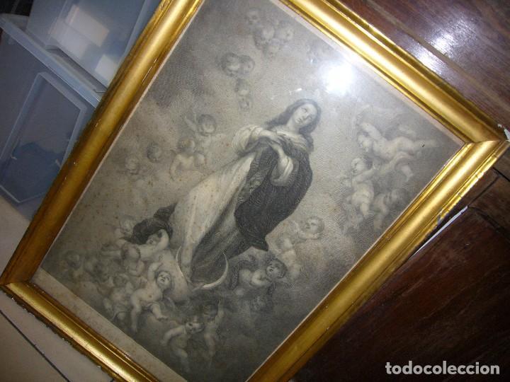 Arte: Antigua lámina de la Virgen Inmaculada - Foto 26 - 87655056