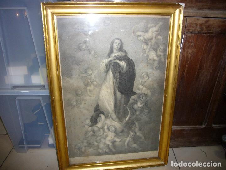 Arte: Antigua lámina de la Virgen Inmaculada - Foto 28 - 87655056