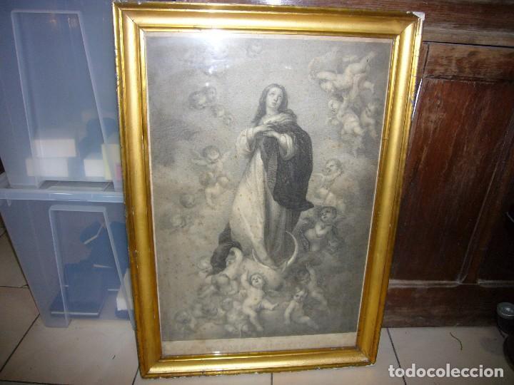 Arte: Antigua lámina de la Virgen Inmaculada - Foto 29 - 87655056