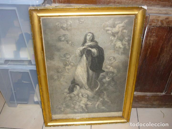 Arte: Antigua lámina de la Virgen Inmaculada - Foto 30 - 87655056