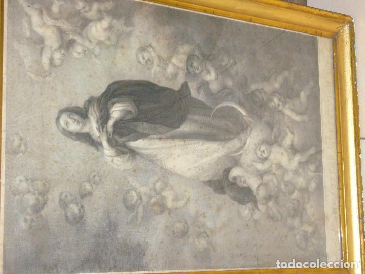 Arte: Antigua lámina de la Virgen Inmaculada - Foto 32 - 87655056