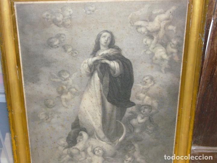 Arte: Antigua lámina de la Virgen Inmaculada - Foto 33 - 87655056