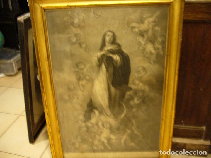 Arte: Antigua lámina de la Virgen Inmaculada - Foto 41 - 87655056