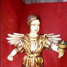 Arte: PRECIOSA TALLA DE MADERA ANGEL TORCHERO, TAMAÑO GRANDE 75 ALTO. Lote 87655428