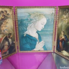 Arte: TRÍPTICO DE MADERA RELIGIOSO. Lote 87720676