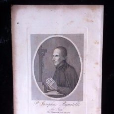 Arte: GRABADO JOSEPHUS PIGNATELLI - COMPAÑIA DE JESUS - SIGLO XIX - 225X148MM. Lote 87931276