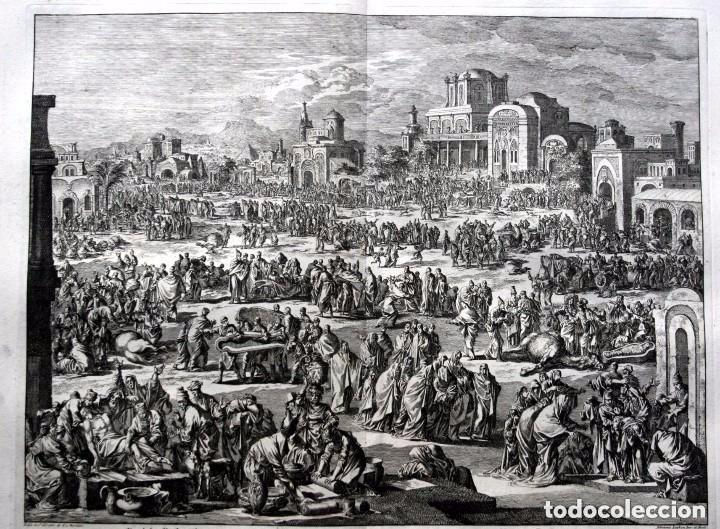 1729 - BIBLIA - 10ª PLAGA DE EGIPTO - MUERTE PRIMOGENITOS - LUYKEN - ENGRAVING - GRAVURE (Arte - Arte Religioso - Grabados)