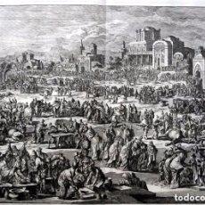 Arte: 1729 - BIBLIA - 10ª PLAGA DE EGIPTO - MUERTE PRIMOGENITOS - LUYKEN - ENGRAVING - GRAVURE. Lote 88096304