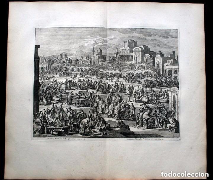 Arte: 1729 - BIBLIA - 10ª PLAGA DE EGIPTO - MUERTE PRIMOGENITOS - LUYKEN - ENGRAVING - GRAVURE - Foto 2 - 88096304