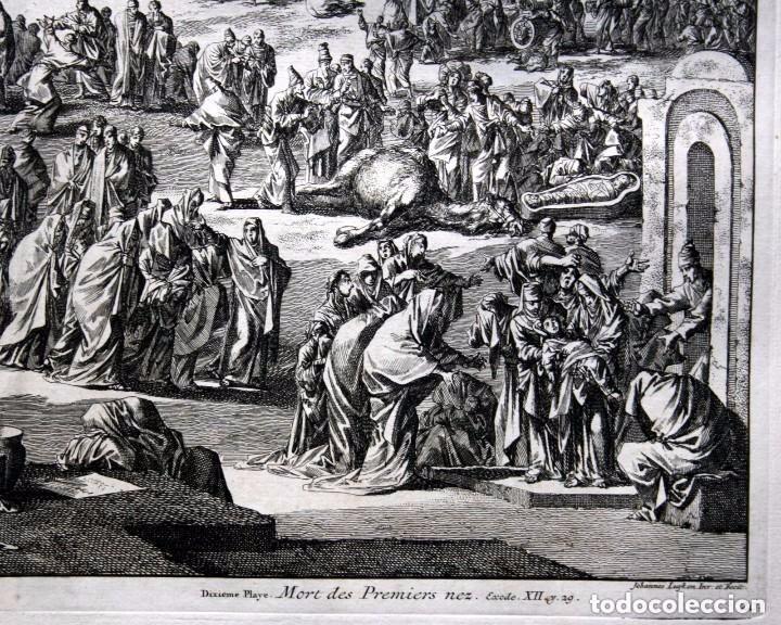 Arte: 1729 - BIBLIA - 10ª PLAGA DE EGIPTO - MUERTE PRIMOGENITOS - LUYKEN - ENGRAVING - GRAVURE - Foto 3 - 88096304