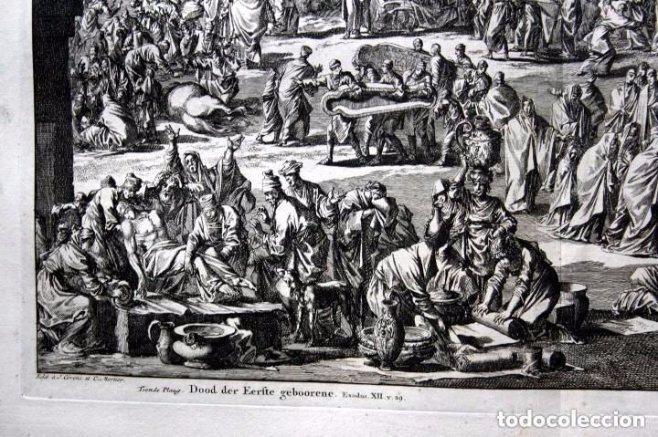 Arte: 1729 - BIBLIA - 10ª PLAGA DE EGIPTO - MUERTE PRIMOGENITOS - LUYKEN - ENGRAVING - GRAVURE - Foto 4 - 88096304
