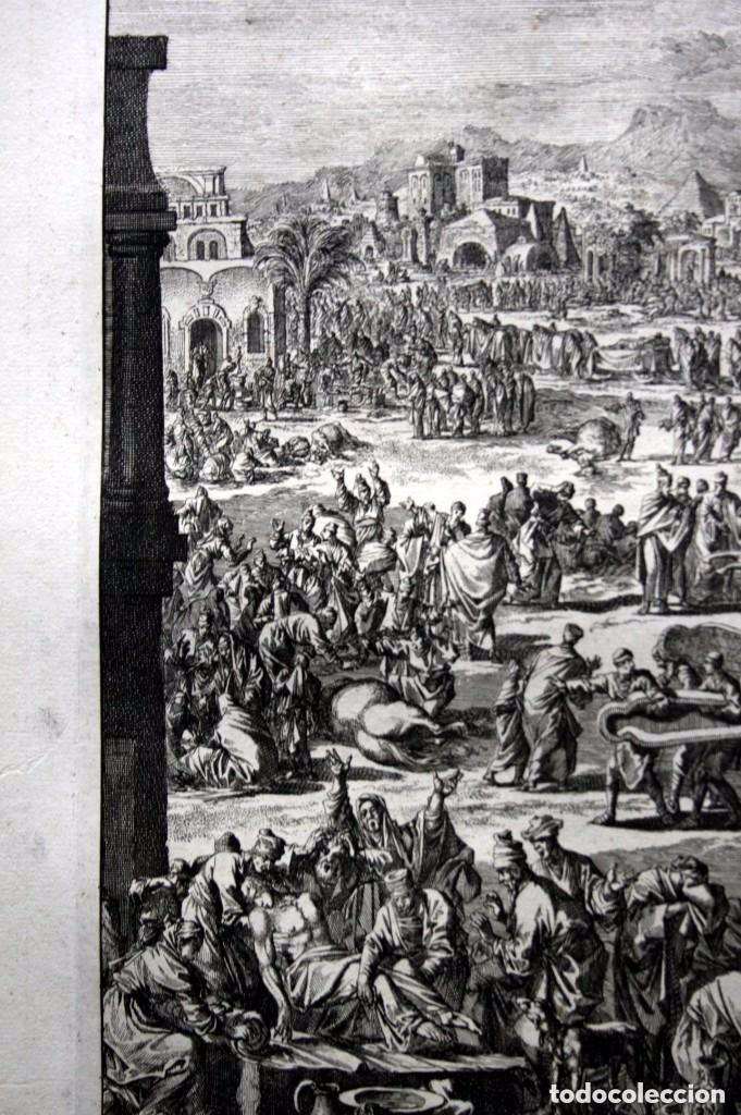 Arte: 1729 - BIBLIA - 10ª PLAGA DE EGIPTO - MUERTE PRIMOGENITOS - LUYKEN - ENGRAVING - GRAVURE - Foto 7 - 88096304