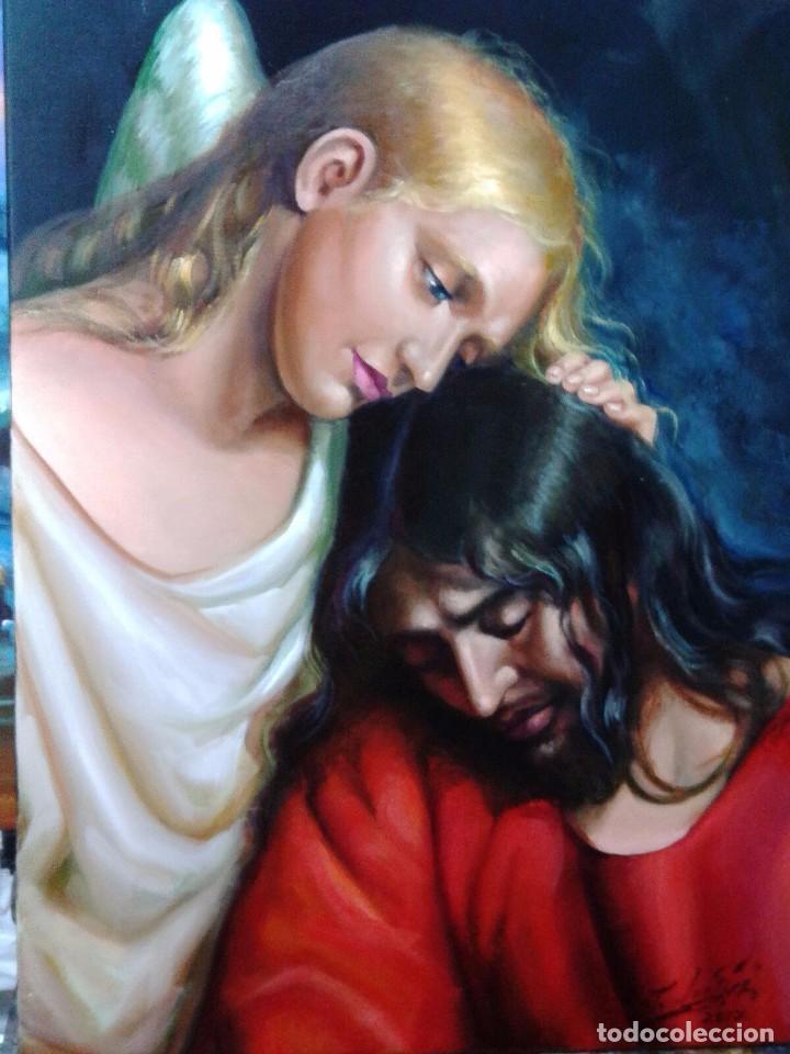 JESUCRISTO. LIENZO 70X54. CON MARCO EXTRAORDINARIO. (Arte - Arte Religioso - Pintura Religiosa - Oleo)