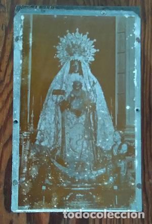 ANTIGUA PLANCHA METALICA SOBRE MADERA PARA IMPRIMIR IMAGEN Nª Sª DE LA MERCED JEREZ DE LA FRONTERA (Arte - Arte Religioso - Grabados)