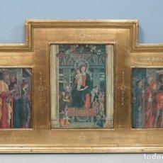 Arte: BONITO TRIPTICO DE MADERA EN PAN DE ORO. Lote 162414537