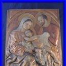 Arte: BONITO RETABLO EN COBRE VIRGEN SAN JOSE Y EL NIÑO JESUS. Lote 89029152