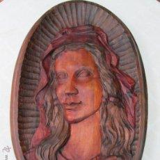 Arte: PRECIOSO TALLADO RELIGIOSO EN MADERA, VIRGEN, AÑOS 60, MUY BONITO.. Lote 89032268