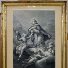 Arte: GRABADO SANTA EUCARISTÍA GRABADOR ANDREAS POZZI PRICIPIOS SIGLO XIX. Lote 89272396