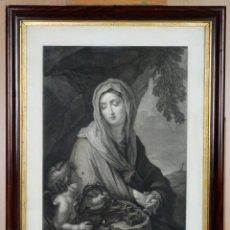 Arte: GRABADO DOLOROSA SIMBOLOS PASÍON OBRA CARLO CIGNANI (1628-1719) GRABADOR GREGORIO CLETER S XIX. Lote 89275236
