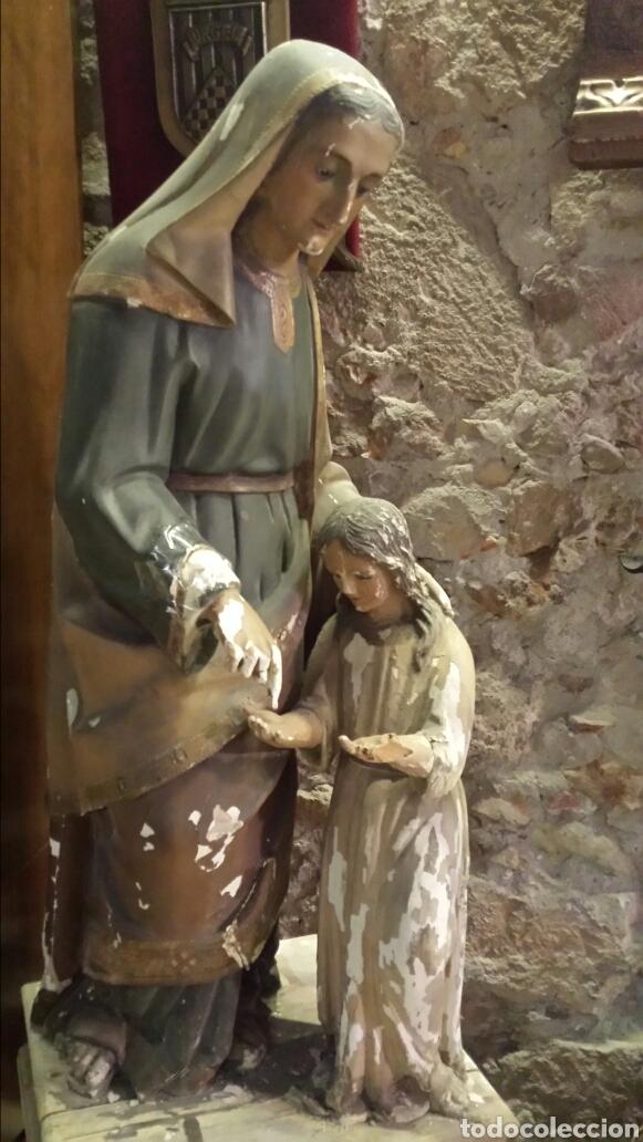 SANTA ANA. TALLA DE MADERA. S XIX (Arte - Arte Religioso - Escultura)