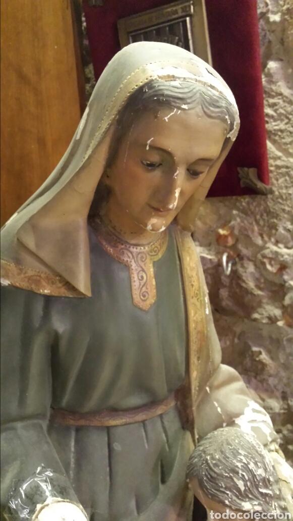 Arte: SANTA ANA. Talla de madera. S XIX - Foto 2 - 89295699