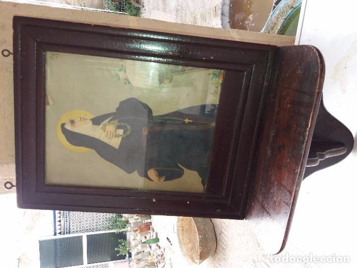 CUADRO SANTA RITA CON ESTANTERIA (Arte - Arte Religioso - Pintura Religiosa - Otros)