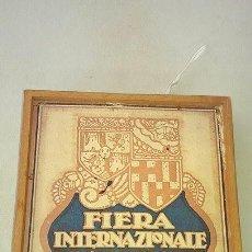 Arte: CARTEL FIERA INTERNAZIONALE DI CAMPIONI BARCELONA 1922 FERIA INTERNACIONAL POSTAL. Lote 89388528