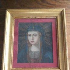 Arte: RETRATO DE LA VIRGEN MARIA - OLEO SOBRE COBRE - SIGLO XVIII. Lote 89417312