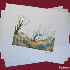 Arte: LOTE DE TRES LITOGRAFÍAS DE PAISAJES. Lote 89543964