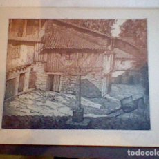 Arte: GRABADO CON FIRMA AUTÓGRAFA CASTRO GIL . Lote 89629256
