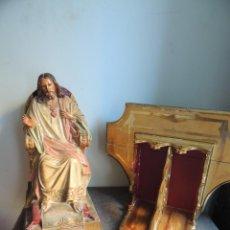 Arte: SAGRADO CORAZON DE JESUS CON MENSULA DORADA. Lote 89754296