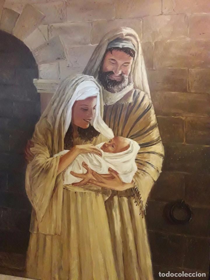 SAGRADA FAMILIA. LIENZO 130X97. ELIGE MARCO A TU GUSTO DE REGALO. (Arte - Arte Religioso - Pintura Religiosa - Oleo)