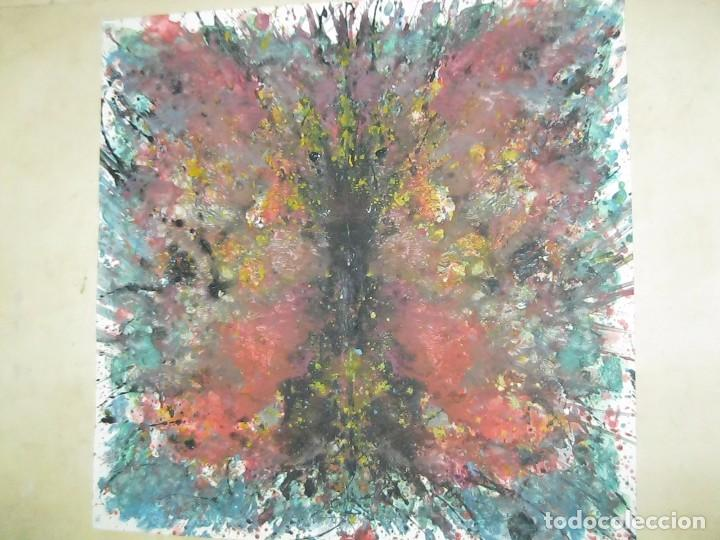 INTERESANTE ANTIGUA OBRA ABSTRACTA CIRCA 1960 (Arte - Arte Religioso - Pintura Religiosa - Otros)